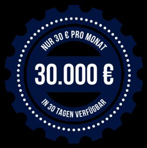 30.000 EUR ohne schufa in 30 Tagen für nur 30 EUR